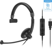 Sennheiser 聲海 SC 45 USB MS 單耳耳麥 Skype for Business 認證