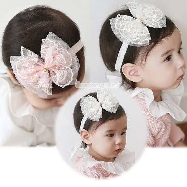 果漾妮妮 韓國網紗愛心 寶寶 嬰兒 髮帶  頭帶 送禮 搭配禮服 婚禮【 P3901】