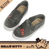 HELLO KITTY X Ann'S親子系列鬍子達利懶人鞋童鞋-黑