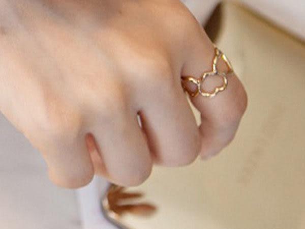 【櫻桃飾品】玫瑰金清新簍空愛心造型戒指   【20428】