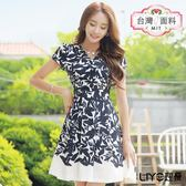 LIYO理優MIT印花公主袖洋裝E716012