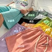 短褲女夏季闊腿寬鬆直筒五分褲子運動中褲【聚物優品】