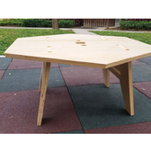 原木拼圖六角桌(附收納袋)/CA7801/木作六角桌/原木桌/野外桌椅/居家布置/戶外露營