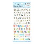 KAMIO JAPAN 行事曆透明標記貼紙 迪士尼 唐老鴨&奇奇蒂蒂 藍