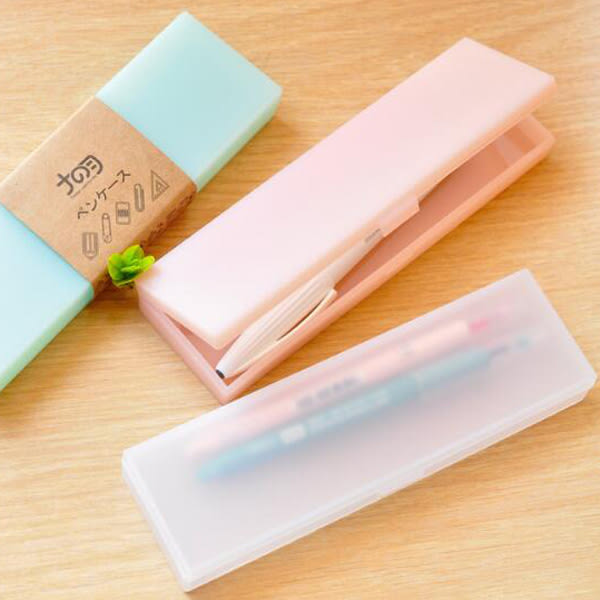【BlueCat】簡約風果凍素色鉛筆盒 筆袋 (小號)