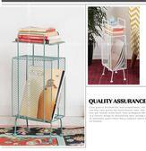 歐式落地雜志架書報收納架客廳沙發邊幾置物架    SQ10727『寶貝兒童裝』TW