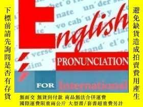 二手書博民逛書店English罕見Pronunciation For International Students-留學生英語發音
