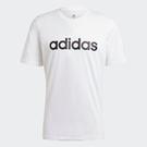Adidas ESSENTIALS EMBROIDERED LOGO 男裝 短袖 休閒 側邊刺繡 白【運動世界】GL0058