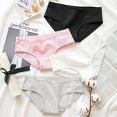 4條裝 純棉內褲女性感女士中腰三角褲頭少女簡約全棉運動字母底褲艾美時尚衣櫥