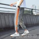 休閒褲 X運動褲男束腳褲休閒褲早春褲子直筒棉闊腿籃球衛褲M81007 17【快速出貨】