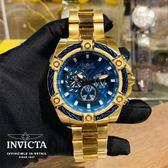 【INVICTA】2019 新款 繩索系列- 三眼計時腕錶 - 金藍繩索