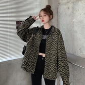 夾克 上衣秋季2020年新款韓版設計感兩面穿豹紋炸街外套女【新品上架】