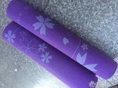 PVC8MM紫色印花瑜伽墊鮮明的的紫色上印上楓葉 港仔會社