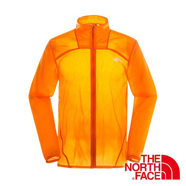 美國The North Face 男 輕量防風外套『橙』排汗透氣衣│皮膚外套│安全反光片設計│運動外套 2TZB