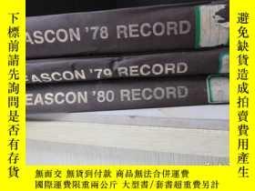 二手書博民逛書店Eascon罕見78 79 80 Record IEEE Ele