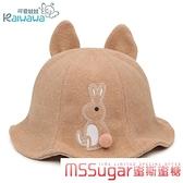 秋冬寶寶毛呢帽子嬰兒漁夫帽女童太陽帽兒童毛呢公主帽0-6-12童帽