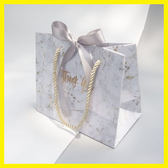 春季上新 大理石紋婚禮手提袋 INS風禮品袋紙袋 婚慶結婚禮物袋子