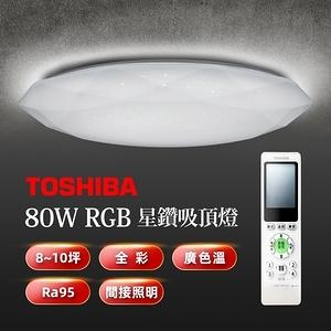TOSHIBA星鑽80W美肌LED吸頂燈 LEDTWRGB20-01S