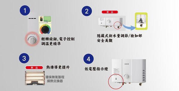 [家事達]  林內RU-RU-B1221RF 屋外抗風型熱水器-12L  特價
