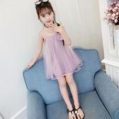 洋裝 連衣裙2019女童裙子夏款新品 韓版洋氣無袖網紗裙中大童公主裙