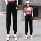 哈倫褲 運動褲女夏季寬鬆高腰顯瘦棉麻褲子休閒衛褲薄款九分束腳褲女 零度3C
