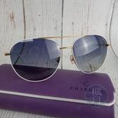 BRAND楓月 CHARRIOL 夏利豪 白色金色邊 漸層鏡片 一字墨鏡 太陽眼鏡 配件