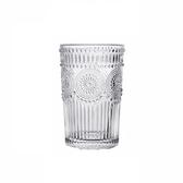 浮雕玻璃水杯345ml