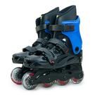 LIKA夢 D.L.D  多輪多 高塑鋼底座 專業直排輪 溜冰鞋 黑藍 530