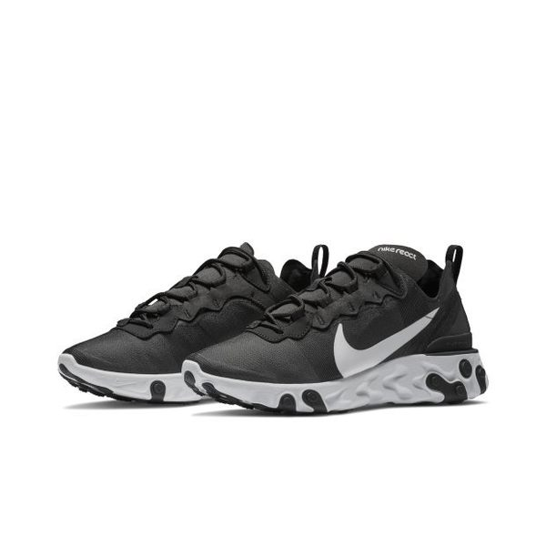 ISNEAKERS Nike Wmns React Element 55 黑白 運動 休閒鞋 女 BQ2728-003