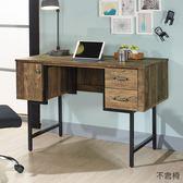 【森可家居】班克工業風書桌 8JX540-3 木紋質感 辦公工作桌 LOFT復古 MIT台灣製造