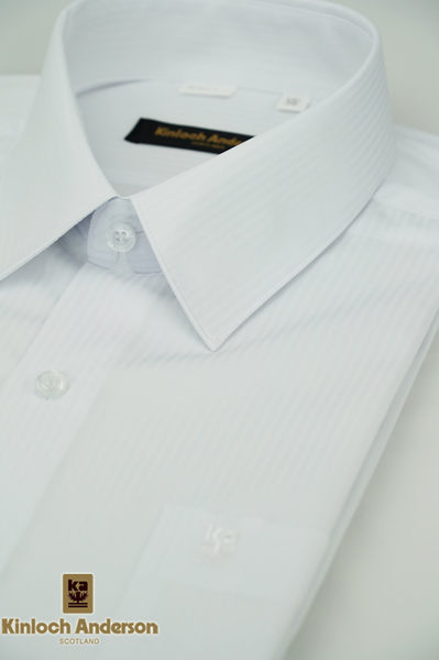 【金‧安德森】白色吸排窄版短袖襯衫