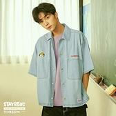 STAYREAL x 櫻桃小丸子 小丸子寬版牛仔襯衫