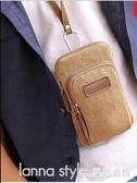 手機包男穿皮帶腰包帆布胸包多功能運動掛包夏季迷你小包 雙十二全場鉅惠
