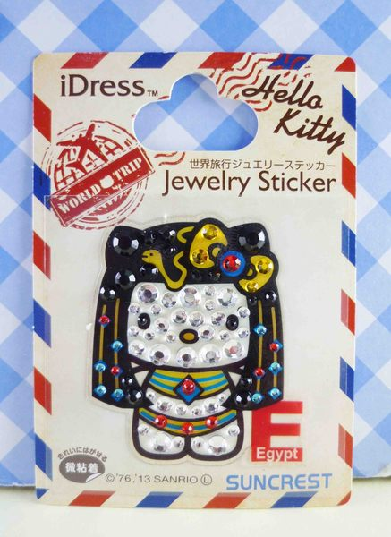 【震撼精品百貨】Hello Kitty 凱蒂貓~KITTY鑽貼紙-地球村系列-埃及豔后