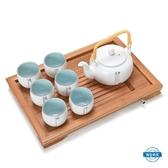 茶具 茶壺茶杯君器禪意日式大茶壺套裝提梁壺茶具茶杯家用陶瓷泡茶壺一壺六杯