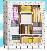 25mm衣櫃牛津布600D加固加粗鋼架衣櫥兒童組裝布藝簡約現代經濟型「Chic七色堇」igo