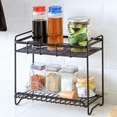 鐵藝雙層置物架 鐵藝噴漆廚房調料架調味品廚具收納架置物架【W27 】♚MY COLOR ♚