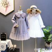 女童長袖連身裙童韓版中大童刺繡小女孩公主裙兒童裙子 『名購居家』
