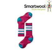 【SmartWool 美國 兒童 健行中級避震條紋中長襪《魔藥紅》】SW001105/排汗襪/保暖襪/兒童襪★滿額送