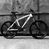 歐雅馬山地車自行車21/24速雙碟剎成人變速一體輪男女學生單車igo『櫻花小屋』