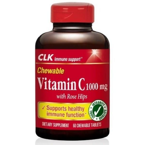 CLK健生 維生素C1000mg 咀嚼錠 60粒/瓶◆德瑞健康家◆