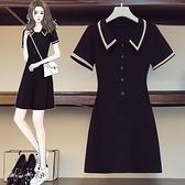 裙子長版衣連身裙L-4XL中大尺碼洋氣減齡甜美連衣裙子R04.4612胖胖唯依