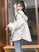 秋季胖MM大碼女裝韓版減齡短款上衣200斤寬鬆新款學生風衣外套女
