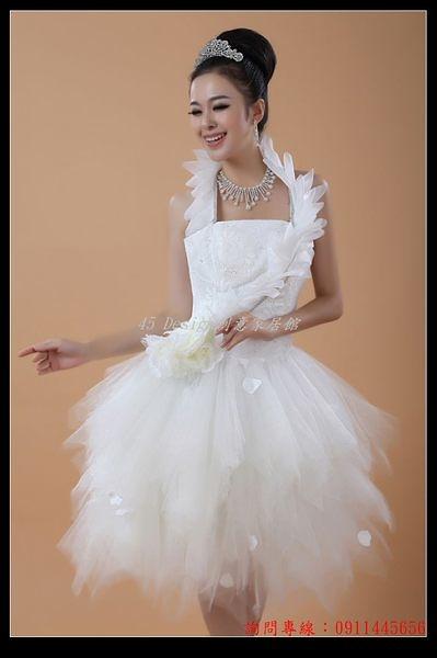 (45 Design定做款)  客製化7天到貨 結婚禮服 短款掛脖蓬蓬裙聚會小禮服伴娘裙 公主連衣裙