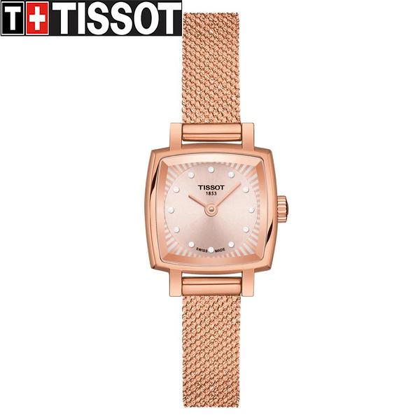 TISSOT 天梭 LOVELY SQUARE 廣告款 雅典米蘭帶女錶-20mm T0581093345600