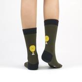韓國 socks appeal® X SML 背後小怪物中桶襪 (軍綠)