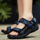 男童涼鞋 男童涼鞋新款夏季中大童學生軟底防滑小男孩沙灘鞋兒童夏天鞋-Ballet朵朵