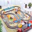 電動拖馬斯小火車套裝軌道玩具男孩兒童高鐵軌道車火車男童3-5歲6