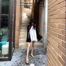 正韓 撞色 T 長袖 上衣 長版 棉質 薄透 寬鬆 外搭 遮陽 防曬 休閒 運動 字母 數字 韓國 NXS