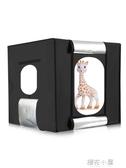 春影LED40cm小型攝影棚套裝補光拍照迷你柔光箱產品拍攝道具QM『櫻花小屋』